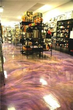 Metallic Epoxy Seems To Be The Latest Trend In Concrete Coatings. Metallic  Flakes Are Added To The Clear Base Coat Offering A Beautiful And Unique  Look, ...